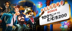 deposit match casino welcome bonus